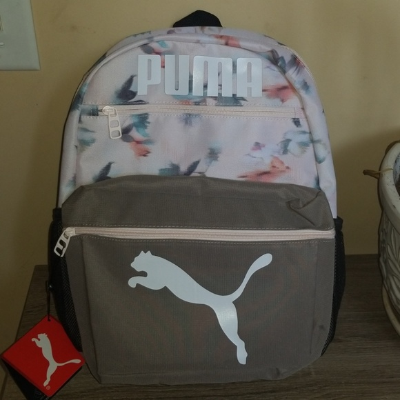 5b8ea9a1e7f3 NWT Puma Meridian 2.0 Backpack Bookbag Pink Grey